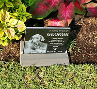 "8x6"" Tombstone Laser Engraved Custom Made, graver marker, pet stone, dog stone"