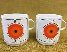 "*Set of 2* Thomas Germany Rosenthal Modern Mod - ""Eclipse""  - 3"" Flat Cup Mug"