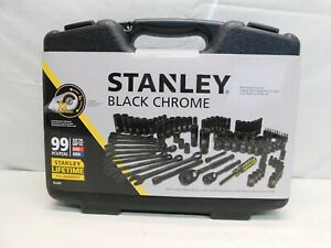 STANLEY 1//4 DRIVE 12 POINT SELECT METRIC SOCKETS POLISHED CHROME STD