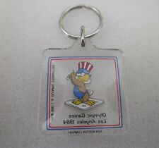 1984 LOS ANGELES Olympics WEIGHT LIFTING ATHLETE KEY CHAIN