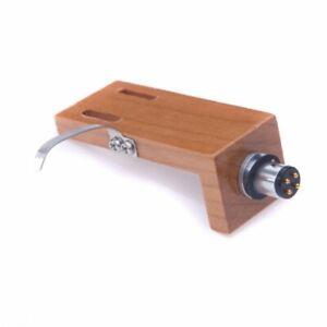 WOODEN HEAD-SHELL Shielded Cherry  P-MOUNT & Gold Cartridge Screw Kit RRP £89.95