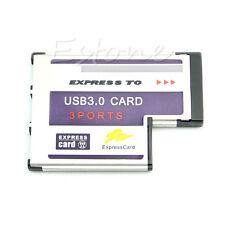 Laptop 54mm Express Card ExpressCard to 3 Port USB 3.0 for FL1100 Chip 5Gbps New