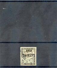 TAHITI Sc J21(YT T21)*VF LH, 1893 20c BLACK, MARGIN THIN AT LEFT, $1200