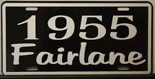 METAL LICENSE PLATE 1955 55 FAIRLANE 292 312 FORD Y BLOCK RAT ROD CONVERTIBLE