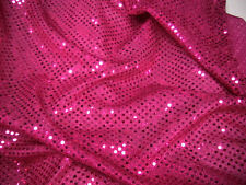 Sequins Lurex Disco/dance/fancy Dress Fabric Cerise Pink 112cm Wide per M