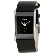Rado R20758155 Integral Jubile Midsize Black Leather with Diamonds Unisex Watch