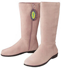 Dexter Manor Ladies Pink Suede Kidskin Knee High Tall Boots 9.5 M