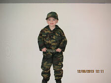 Military Jr. Camouflage Suit w/Cap 18 months NEW
