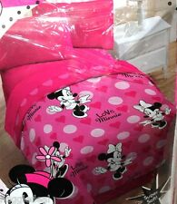 "MINNIE MOUSE TWIN COMFORTER 64""X 86"" SUPER SOFT PINK FOR GIRLS 100%POLYESTER"
