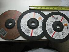 "3 3M 92319 Abrasive  Cut Disc 7 In OD .125In Thk 7/8"" center hole Lot of 3 grade"
