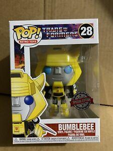 Bumblebee Transformers Pop vinyl Funko 28 Exclusive