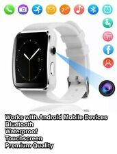 Bluetooth Smart Watch Unlocked Phone Camera Sport Waterproof for Android Mobiles