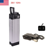 36V 10Ah Fish Lithium Li-ion Battery w/ Charger for 350W Electric Bicycle E-Bike