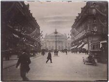 Avenue de l'Opéra Paris Instantané Voitures anciennes Vintage Citrate ca 1900