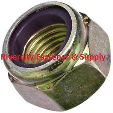 (25) 5/8-11 Coarse Thread Grade 8 Nylon Insert Hex Lock Stop Nut Yellow Zinc