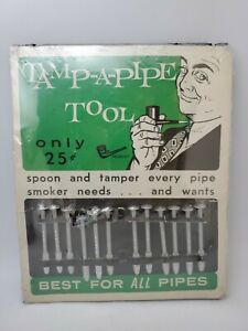 VINTAGE Tamp a Pipe Tool Tobacco Pipe STORE DISPLAY RARE