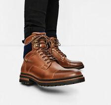New Zara Men Brown Worker Boots Leather Wool US 6 EU 39 5631/102