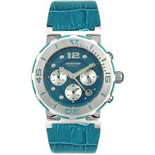 Immersion Blue Dial Genuine Leather Women's Maui Watch 6976