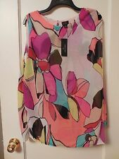 NWT Women's WORTHINGTON Colorful Floral Layered Blouse Size Large - MSRP $36