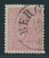 "NORWAY 1867, Mi. 15 b used, ""clear pressure"", fine/very fine"