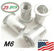 Aluminum Rivet Nut Rivnut Insert Nutsert M6x10 25 Pcs