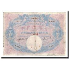 Billets, France, 50 Francs, 1913-10-21, KM:64e, B+, Fayette:14.26 #590776