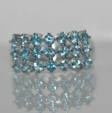 BRAND NEW *10KT WHITE GOLD * 1.68CARATS BLUE TOPAZ RING