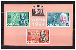 S16306) Ghana MNH 1964 Unesco S/S