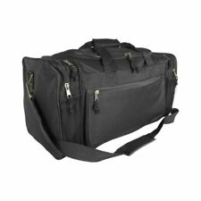 Dalix 20 inch Sports Duffle Bag with Mesh and Valuables Pockets - Black