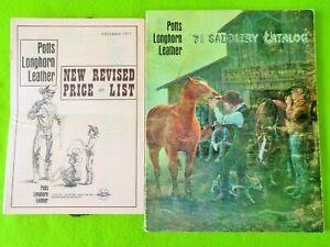POTTS LONGHORN Vintage 1971 CATALOG~SADDLE~BRIDLE~Crockett~Kelly Bit & Spur~NR