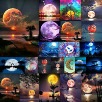 Full Drill Moon Moonlight 5D Diamond Painting Cross Stitch Embroidery Art Decor