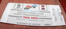Ticket for collectors EC Boavista Porto MyPa Anjalankoski 1994 Portugal Finland