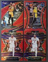 2019-20 Anthony Davis Select TMall Red Wave Lot Of 4 Courtside Premier Concourse