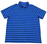 Under Armour Heat Gear Men's XXL 2XL Loose Short Sleeve Striped Golf Polo Shirt
