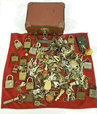 New Listingvintage lot of old keys locks 8lb slaymaker victory grant locks variety keys S2