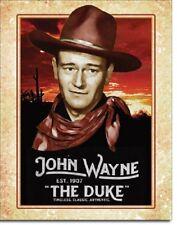 John Wayne Classic The Duke Legend Western Cowboy Hollywood Decor Metal Tin Sign