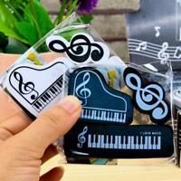 3pcs/set Musical Piano Notes Rubber Pencil Eraser School Student Supplies Gift