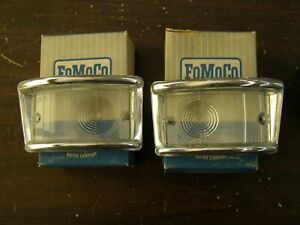 NOS OE 1961 1967 Ford Econoline Park Light Lenses Van Pickup 1962 1964 1965 1966