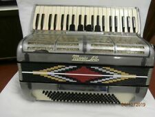 Music all 120 bass piano accordion 1965-1975 grey marble
