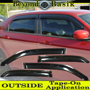 For 2005 2006 2007 2008 2009 2010 Chrysler 300 SMOKE Door Vent Visor Rain Guard