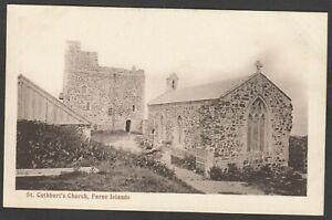 Postcard Farne Islands nr Seahouses Northumberland early St Cuthbert's Church