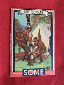 1933 GOUDEY GUM  BOY SCOUTS - #10 A Totem Pole For Your Camp