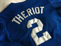Ryan Theriot Chicago Cubs Majestic Jersey Men Size L Vintage Away Home Blue