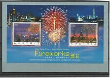 Austria Austria Hong Kong Cina 2006 Fireworks crystals SWAROVSKI BL. 34 MNH