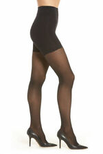 Wolford Tights Size S Black Raila Control Top Back Seam Fishnet 14593 New