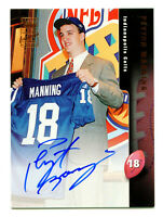 PEYTON MANNING 1998 Topps Bronze Foil Rookie Card RC Certified Auto Autograph SP