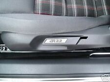 VW GOLF MK5 MK6 R32 ALLIAGE BORDURE SEAT INSERTIONS PAIRE GTI