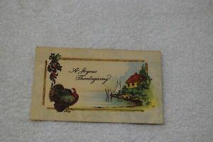Vtg A Joyous Thanksgiving, Postcard, 8138, Unposted