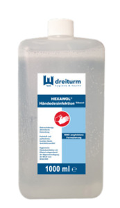 6000ml 6 Liter Händedesinfektion Hautdesinfektion Desinfektionsmittel 6 x 1 L