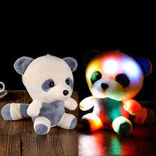 Stuffed Animal Panda Doll Hug Colorful LED Flash Light Plush Toy Kids Gift Panda